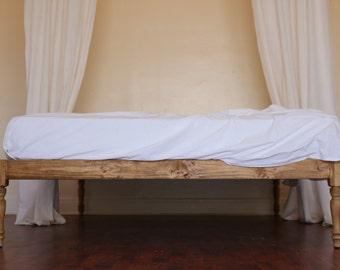 platform bed bed frame bohemian wood rustic boutique golden oak - Wooden Platform Bed Frames