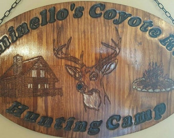 Personalized Log Cabin Sign