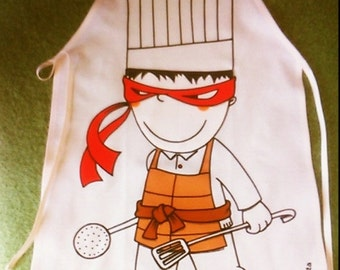 Child apron 'I like the Ninja turtles""