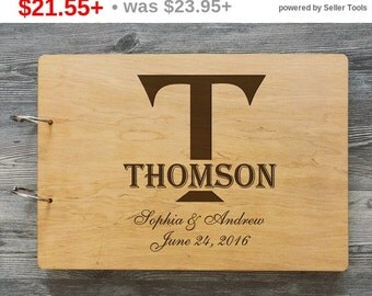 SALE! Initial Guest Book Wedding, GuestBook Wood Monogramed, Wooden Wedding Guest Book, Unique GuestBook, GuestBook Wood Monogramed, Brid...