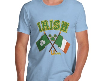 Men's Irish Flag St Patricks Day T-Shirt