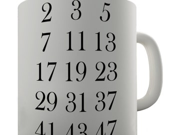 Math Prime Numbers Ceramic Funny Mug