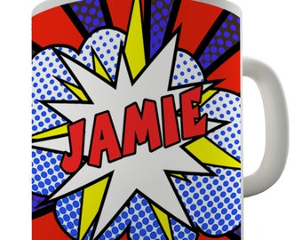 Personalised Comic Book Ceramic Tea Mug