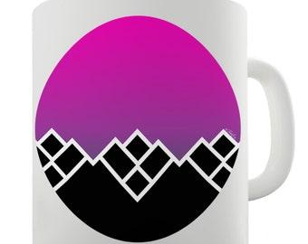 Geometric Mountains Ceramic Tea Mug