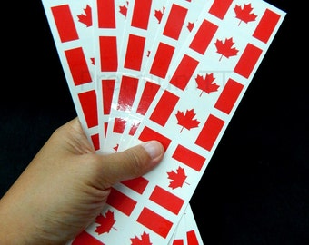 40 Tattoos: Canadian Flag, Canada Party Favors