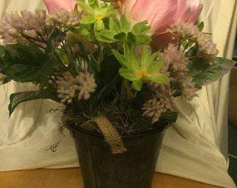 Pink tulips arrangement. #307