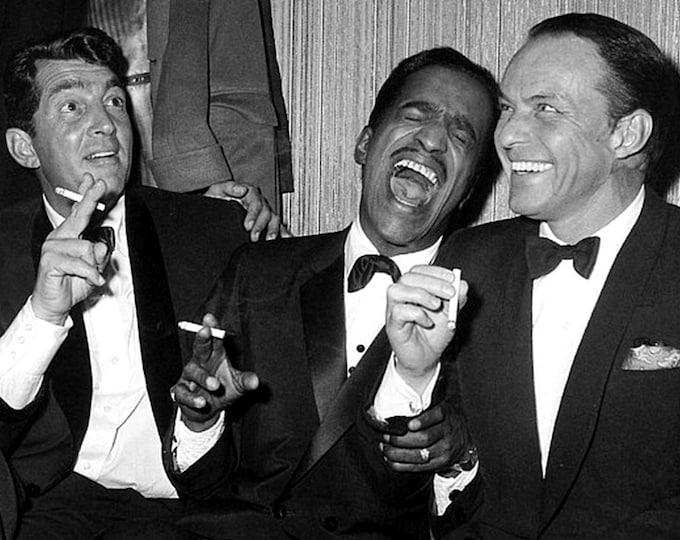 The Rat Pack: Dean Martin, Sammy Davis, Jr. & Frank Sinatra - 5X7, 8X10 or 11X14 Photo (AA-724)