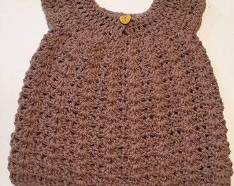 0-3mos Crochet Baby Dress