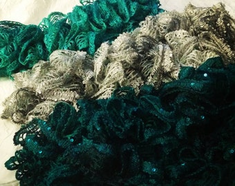 Ruffle Accent Scarf