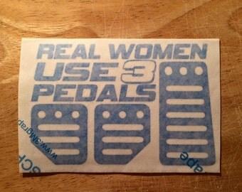 3 pedals