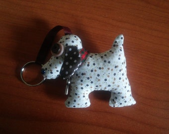 Fabric Keychain various breeds of dog