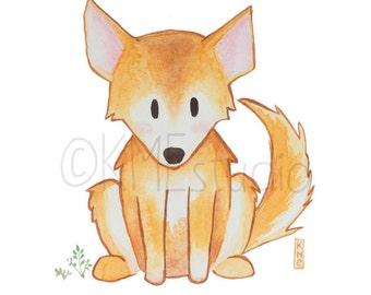 Dingo - Australian Animal Nursery Watercolour Print