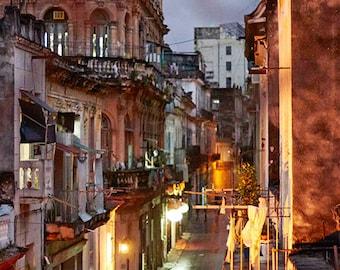 Havana Street Scene (Gold)