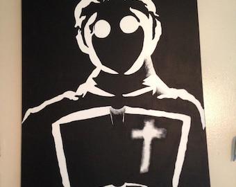 """Sin City - Frank Miller Comic - Acrylic on 24""""x18"""" Canvas"""