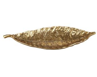 Decorative Tray, Gold Leaf Tray, Serving Tray, Leaf Tray