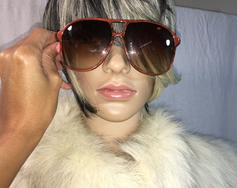 Vintage Opti- Ray Orange Aviator Sunglasses