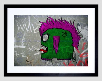 Painting Trowell Punked Punk Picture Art Print Poster FEJT017B