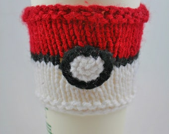 Pokeball Knitted Cup Cozy