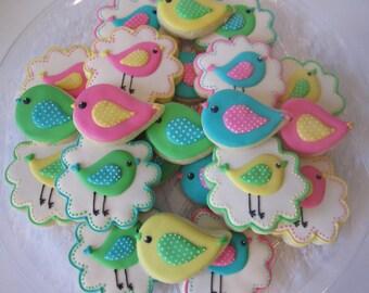 1st Birthday Bird cookies