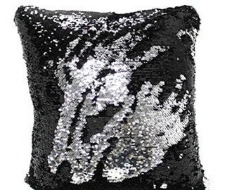 Double Sided Reversible Sequin Pillow Cover