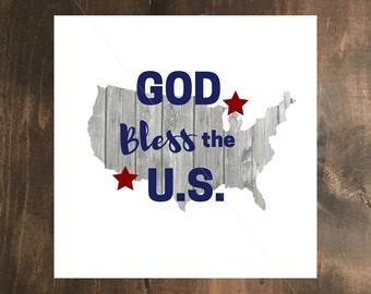 Rustic God Bless the U.S.