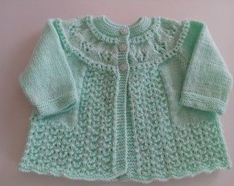 Green Baby Jacket 3months Acrylic