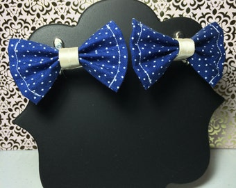 Blue Dotted Mini Bows