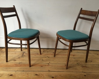 Mid Century Vintage Thonet Style Retro Bentwood Kitchen Dining Chairs