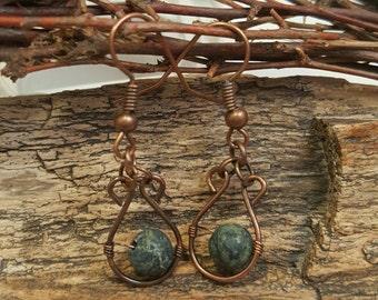 Tree agate earrings