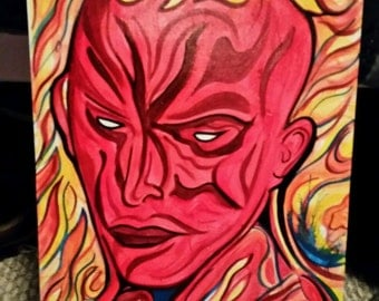 Human torch painting