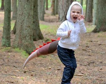 Brown Dinosaur Tail/ Dino tail/ Dinosaur costume/ Kids costume/ Costume tail/ Halloween costume/ Boy gift