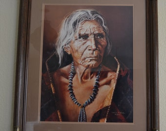 Rare Patricia McAllister Native American Limited Edition Signed Print