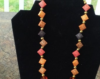 Autumn colored necklace