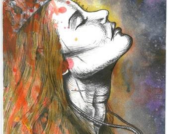 Aelin Fireheart (Throne of Glass) - Art Print