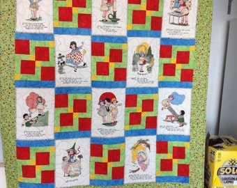 child's nursery rhyme quilt