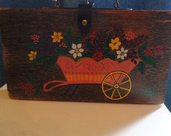 Gary Gail Dallas Vintage Wooden Purse.