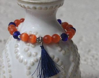 Orange and Blue stretch bracelet, UF, Gators