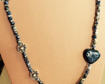 Blue porcelain heart