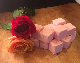 Rose shower steamers, shower bombs, shower fizzies, 1 Dozen. INDIVIDUALLY WRAPPED!