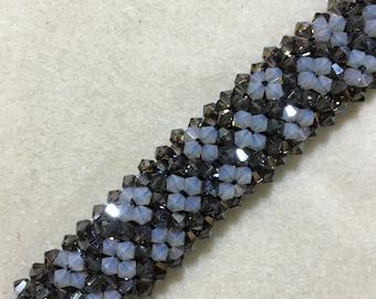 Sand Opal & Bronze Swarovski Crystal Bracelet