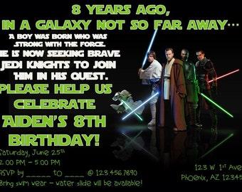 Star Wars Customizable Birthday Invitation