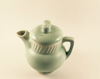 Vintage Salada Tea Hall light green teapot USA