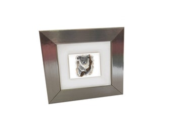 Framed Cute Animal Art Print 4 x 4
