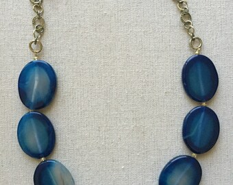 Charming Blue Statement Necklace