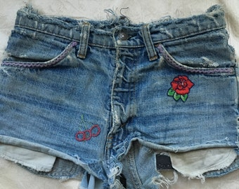 Vintage Levi Hand Embroidered Shorts