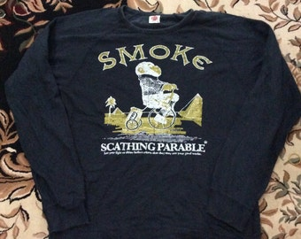 Vintage smoke scathing parable