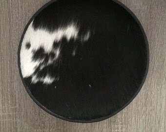 Leater and Fur Decorative Plate