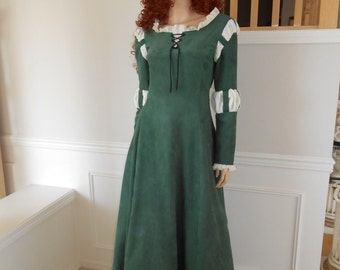 New Renaissance Brave Princess Merida Dress Gown Costume