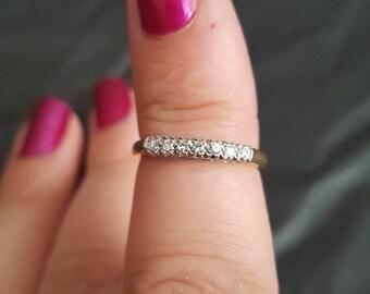 14k yellow gold and diamond band