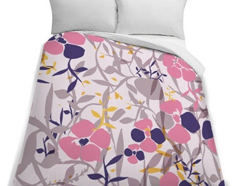 Pastel Flower Queen Size Duvet Cover